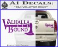 Valhalla Bound Decal Sticker Viking Purple Vinyl 120x97