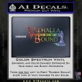Valhalla Bound Decal Sticker Viking Sparkle Glitter Vinyl Sparkle Glitter 120x120