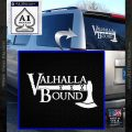 Valhalla Bound Decal Sticker Viking White Vinyl Emblem 120x120