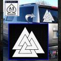 Vaulknut Odins Warrior Knot Decal Sticker White Vinyl Emblem 120x120