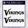 Vikings Decal Sticker 2 pk Black Vinyl Logo Emblem 120x120