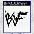 WWF Wrestling Logo Decal Sticker Retro D1 WWE Black Vinyl Logo Emblem 120x120