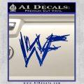 WWF Wrestling Logo Decal Sticker Retro D1 WWE Blue Vinyl 120x120