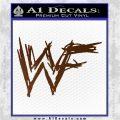 WWF Wrestling Logo Decal Sticker Retro D1 WWE Brown Vinyl 120x120