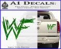 WWF Wrestling Logo Decal Sticker Retro D1 WWE Green Vinyl 120x97