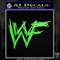WWF Wrestling Logo Decal Sticker Retro D1 WWE Lime Green Vinyl 120x120