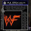 WWF Wrestling Logo Decal Sticker Retro D1 WWE Orange Vinyl Emblem 120x120