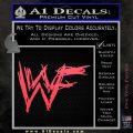 WWF Wrestling Logo Decal Sticker Retro D1 WWE Pink Vinyl Emblem 120x120