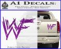 WWF Wrestling Logo Decal Sticker Retro D1 WWE Purple Vinyl 120x97