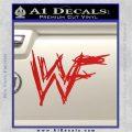 WWF Wrestling Logo Decal Sticker Retro D1 WWE Red Vinyl 120x120