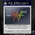 WWF Wrestling Logo Decal Sticker Retro D1 WWE Sparkle Glitter Vinyl Sparkle Glitter 120x120
