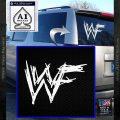 WWF Wrestling Logo Decal Sticker Retro D1 WWE White Vinyl Emblem 120x120