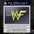 WWF Wrestling Logo Decal Sticker Retro D1 WWE Yellow Vinyl 120x120