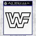 WWF Wrestling Logo Decal Sticker Retro D2 WWE Black Vinyl Logo Emblem 120x120