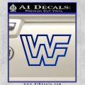WWF Wrestling Logo Decal Sticker Retro D2 WWE Blue Vinyl 120x120