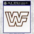 WWF Wrestling Logo Decal Sticker Retro D2 WWE Brown Vinyl 120x120
