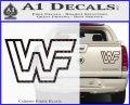 WWF Wrestling Logo Decal Sticker Retro D2 WWE Carbon Fiber Black 120x97