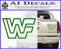WWF Wrestling Logo Decal Sticker Retro D2 WWE Green Vinyl 120x97