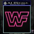 WWF Wrestling Logo Decal Sticker Retro D2 WWE Hot Pink Vinyl 120x120