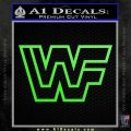 WWF Wrestling Logo Decal Sticker Retro D2 WWE Lime Green Vinyl 120x120