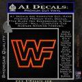 WWF Wrestling Logo Decal Sticker Retro D2 WWE Orange Vinyl Emblem 120x120