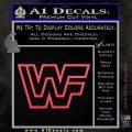 WWF Wrestling Logo Decal Sticker Retro D2 WWE Pink Vinyl Emblem 120x120