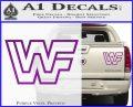 WWF Wrestling Logo Decal Sticker Retro D2 WWE Purple Vinyl 120x97