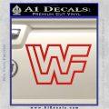 WWF Wrestling Logo Decal Sticker Retro D2 WWE Red Vinyl 120x120