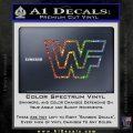 WWF Wrestling Logo Decal Sticker Retro D2 WWE Sparkle Glitter Vinyl Sparkle Glitter 120x120