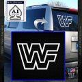 WWF Wrestling Logo Decal Sticker Retro D2 WWE White Vinyl Emblem 120x120