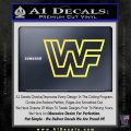 WWF Wrestling Logo Decal Sticker Retro D2 WWE Yellow Vinyl 120x120