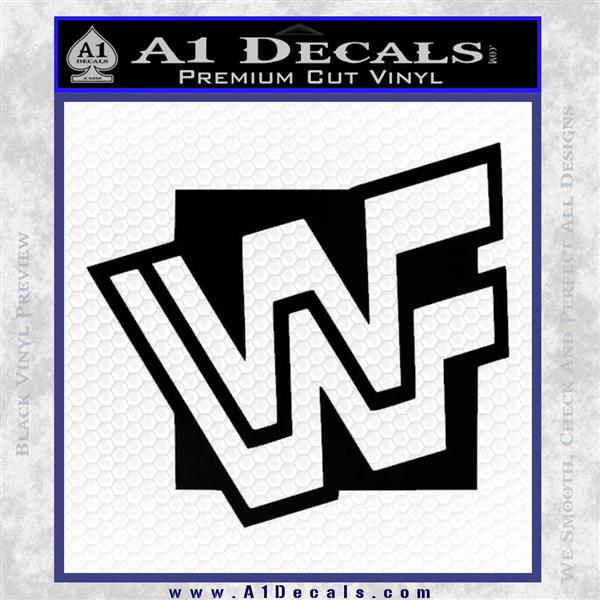 Wwf Wrestling Logo Decal Sticker Retro D3 Wwe 187 A1 Decals