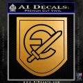 Waffen Grenadier Division Of SS Panzer Decal Sticker Metallic Gold Vinyl 120x120
