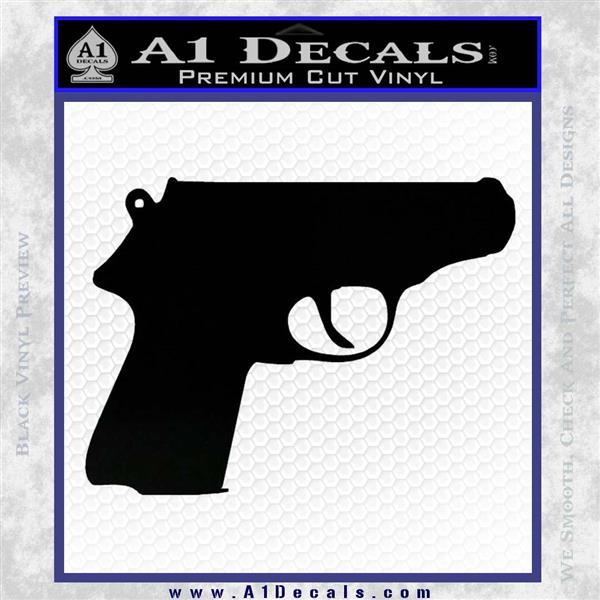 Walther PPK Gun 007 Decal Sticker D1 Black Vinyl Logo Emblem