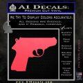 Walther PPK Gun 007 Decal Sticker D1 Pink Vinyl Emblem 120x120