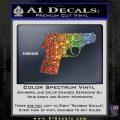 Walther PPK Gun 007 Decal Sticker D1 Sparkle Glitter Vinyl Sparkle Glitter 120x120
