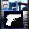 Walther PPK Gun 007 Decal Sticker D1 White Vinyl Emblem 120x120