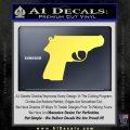 Walther PPK Gun 007 Decal Sticker D1 Yellow Vinyl 120x120