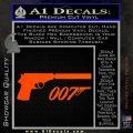 Walther PPK Gun Silencer 007 Decal Sticker Orange Vinyl Emblem 120x120