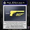 Walther PPK Gun Silencer 007 Decal Sticker Yellow Vinyl 120x120