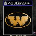 Waylon Jennings Decal Sticker OV Metallic Gold Vinyl 120x120
