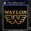 Waylon Jennings Decal Sticker Stacked Metallic Gold Vinyl 120x120