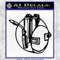 Welding Decal Sticker D3 Black Vinyl Logo Emblem 120x120