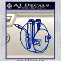 Welding Decal Sticker D3 Blue Vinyl 120x120