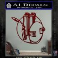 Welding Decal Sticker D3 Dark Red Vinyl 120x120