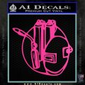 Welding Decal Sticker D3 Hot Pink Vinyl 120x120