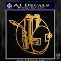 Welding Decal Sticker D3 Metallic Gold Vinyl 120x120