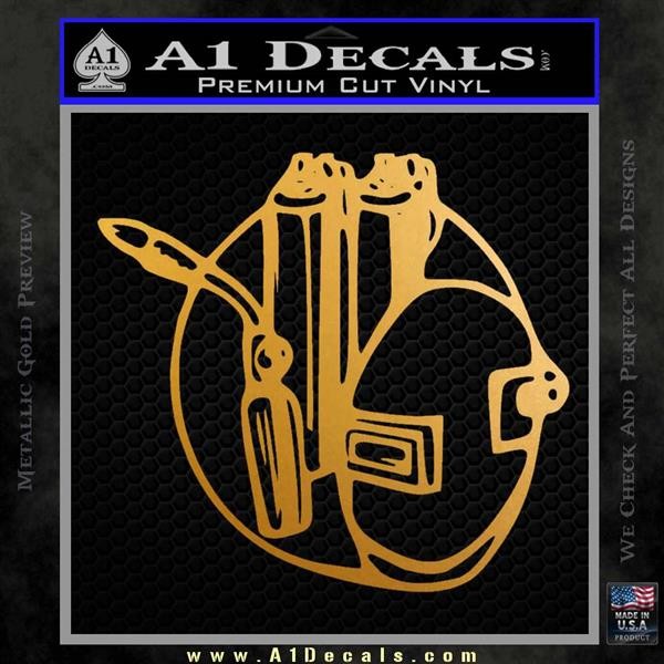 Welding Decal Sticker D3 Metallic Gold Vinyl