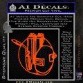 Welding Decal Sticker D3 Orange Vinyl Emblem 120x120