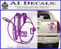 Welding Decal Sticker D3 Purple Vinyl 120x97